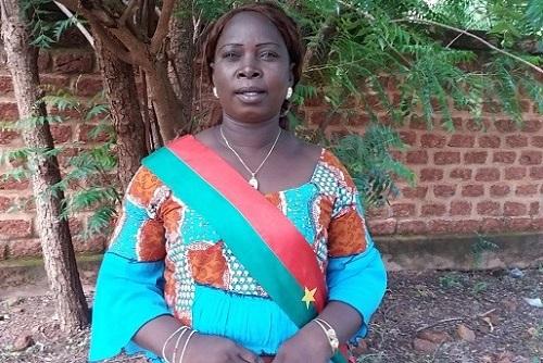 ''Je ne connaissais pas la politique, mais j'ai été désignée par les populations qui pensaient que j'en avais les capacités'', Niamoukara Joséphine, maire de la commune de Kiembara