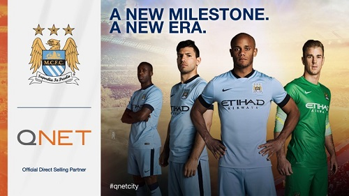 QNET reconduit son partenariat avec le Manchester City Football Club