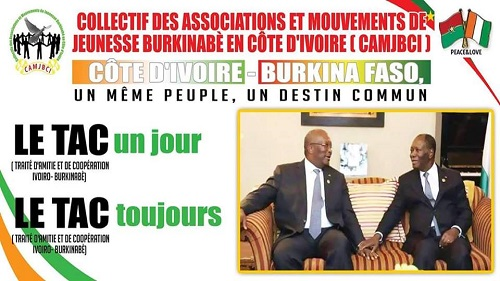 TAC 2017: Le CAMJBCI invite les ivoiriens du Burkina à un accueil chaleureux au président Alassane Dramane Ouattara