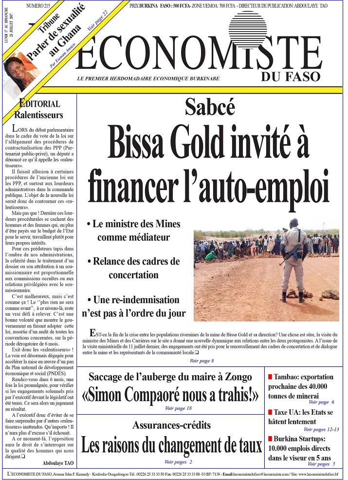 UNE L'Economiste du Faso 215