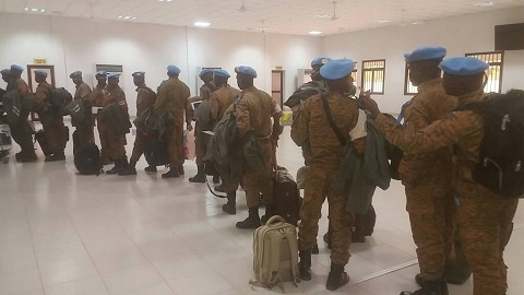 Mission onusienne au Darfour: Le Bataillon Laafi 8 du Burkina de retour au bercail
