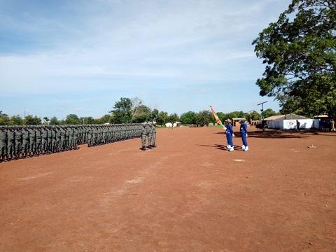 Gendarmerie nationale burkinabè: 750 élèves sous-officiers présentés au drapeau à Bobo-Dioulasso