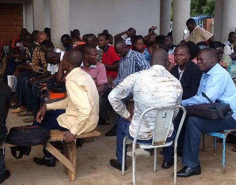 Sit-in du syndicat des gestionnaires des ressources humaines: Une grève illimitée en vue si rien n'est fait