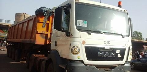 Echangeur de Gounghin: Un camion-remorque écrase une femme