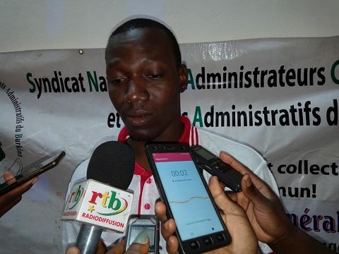 Bidiga Adama, secrétaire général national du SYNACSAB: «Finie la récréation! Finie l'hypocrisie de lutte au sein du corps des administrateurs»