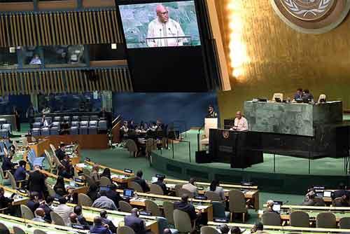 72e Assemblée Générale de l'ONU: Roch Kaboré invite ses pairs à passer du discours à l'action