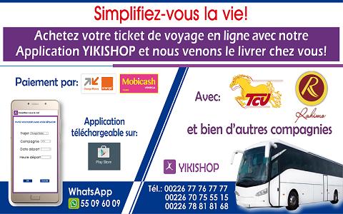 Burkina: Yikishop, l'application de vente de tickets de voyage qui séduit