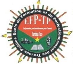 Ecole de Formation et de Perfectionnement des Travaux  Publics (EFP-TP): Voici le chronogramme de recrutements dans les filières