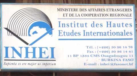 INHEI recrute sur titre vingt (20) auditeurs pour la formation au Diplôme d'Etudes Supérieures en Diplomatie et Relations Internationales (DESDRI)