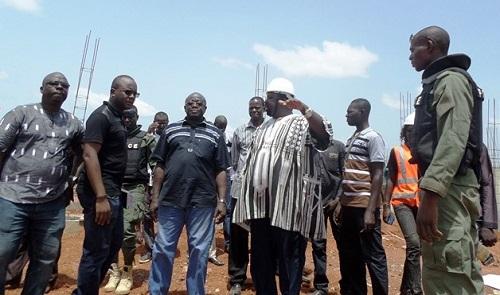 Préparatifs du 11 décembre 2017: Le ministre de l'habitat était à nouveau sur les chantiers à Gaoua