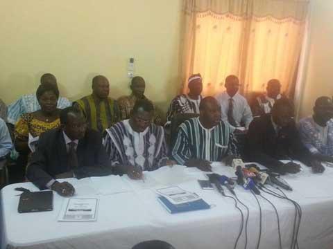 Opposition burkinabè: Les partis membres du CFOP condamnent la dissidence des députés UPC