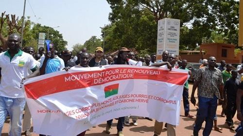 Liberté provisoire pour Djibrill Bassolé: Faible manifestaion d'organisations de la société civile à Ouagadougou