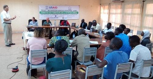 Projet mécanisation agricole appropriée: Des enseignants et étudiants formés sur la nutrition animale à Bobo-Dioulasso