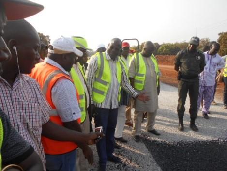 Festivités du 11-Décembre 2017: Eric Bougouma sur les chantiers