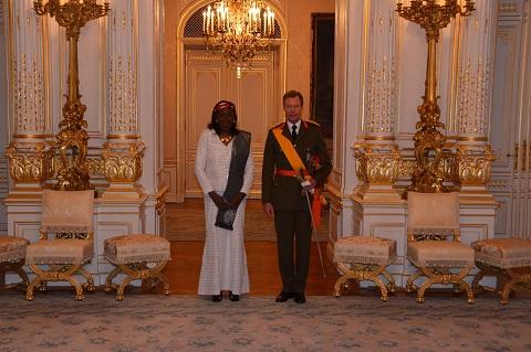 Diplomatie: Jacqueline Marie Zaba/Nikiéma présente ses lettres de créances au Grand-Duc Henri de Nassau de Luxembourg
