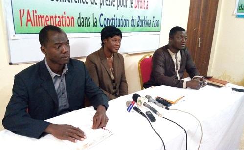 Nouvelle Constitution du Burkina: Hunger Free World et des journalistes plaident pour le droit à l'alimentation