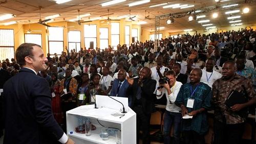 Macron face aux étudiants: «Le MPP a versé la figure du Burkina par terre» selon l'Union Nationale des Jeunes de l'UPC