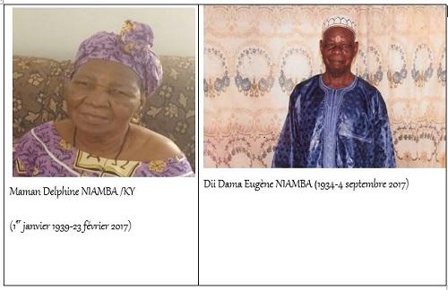 Funérailles chrétiennes Maman  Delphine et Dii Eugène NIAMBA