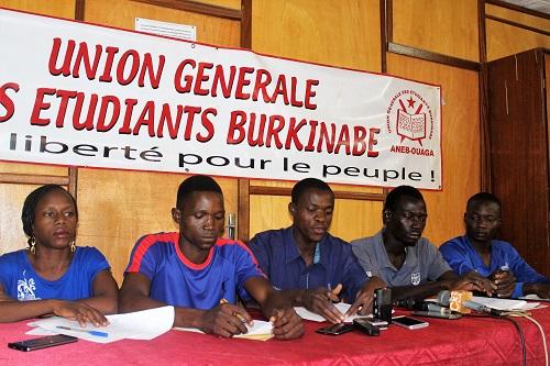 Grève à l'Université: «La majorité des étudiants est avec nous», Alexis Zabré, président de l'ANEB-Ouaga