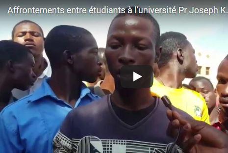 Grève de l'ANEB: Quand l'université de Ouagadougou devient le théâtre d'une battue