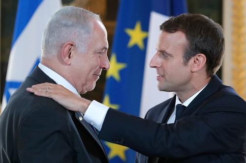 Proche-Orient: Emmanuel Macron et Benjamin Netanyahu en conférence de presse conjointe