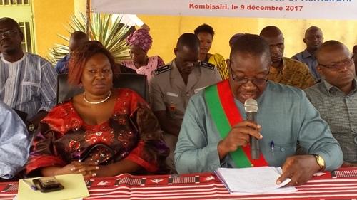 Kombissiri: Le Maire rend compte de sa gestion à la population
