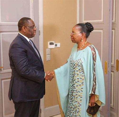 Burkina-Sénégal: Les adieux de  l'Ambassadeur Aline Koala/Kaboré au Président Macky Sall