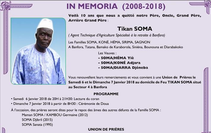 In memoria: Tikan SOMA
