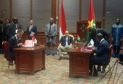 Le Burkina et la principauté de Monaco signent un protocole d'entente
