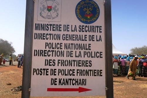 Poste de police frontière de Kantchari: Les mailles de filtrage plus sûres