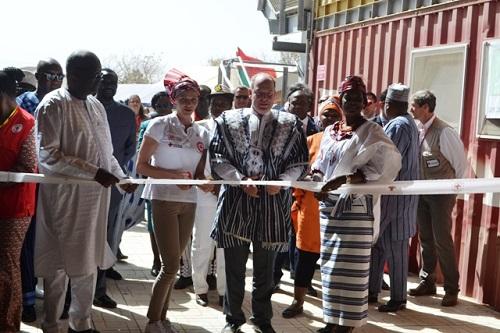 Monaco-Burkina: Le prince Albert II et le président Roch Kaboré au Centre polyvalent de Loumbila et à Agroserv