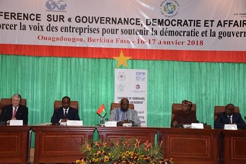 Conférence sur  «Gouvernance, démocratie et affaires»: La Déclaration de Ouagadougou est née