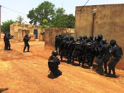 Ouagadougou: Simulation de riposte à une attaque terroriste dans la zone de Ouaga 2000 ce lundi 5 février 2018