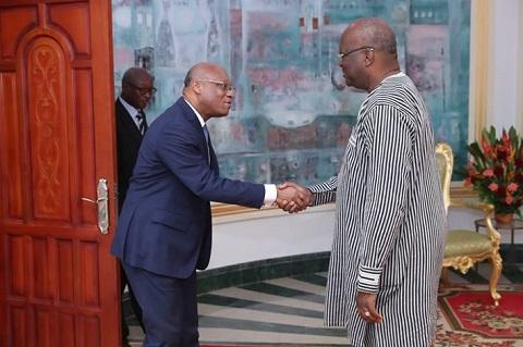 CEDEAO: Le futur Président de la Commission reçu par le Président du Faso