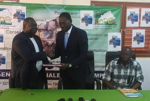 Partenariat SEMAFO Boungou / ANPE: 115 jeunes à former en 5 métiers porteurs