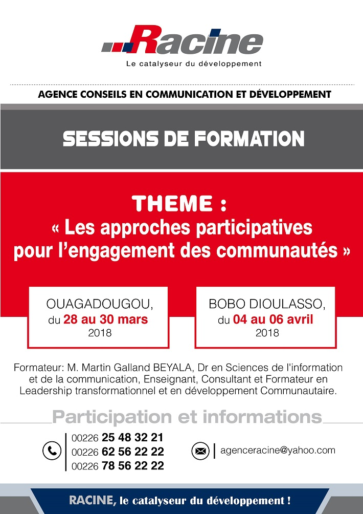 SESSION DE FORMATION sur le Thème: «Les approches participatives pour l'engagement des communautés»