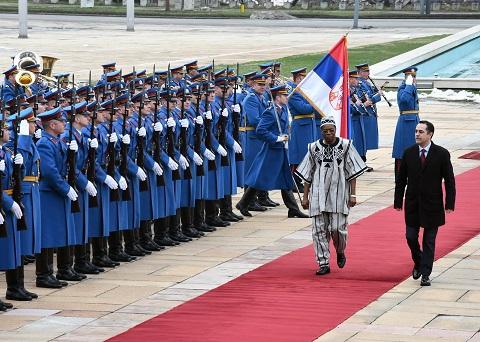 Burkina Faso- Serbie: SEM Dieudonné Kéré présente ses Lettres de créance au Président  Aleksandar Vucic
