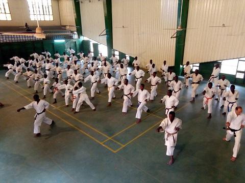 Pratique des arts martiaux: Des clubs du Karaté-Do-Shotokan en stage de perfectionnement