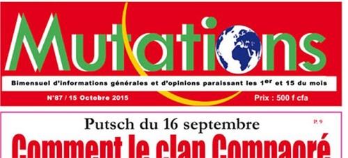 Condamnation du journal «Mutations»: Communiqué de l'Union de  presse indépendante du Faso