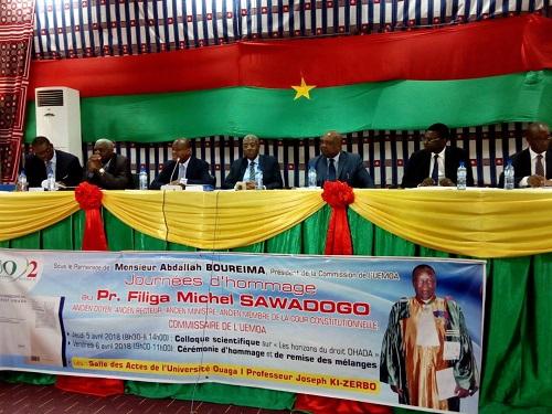 Hommage au Pr Filiga Michel Sawadogo: Un colloque scientifique sur «Les horizons du droit OHADA» pour «l'éminence grise»