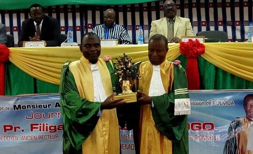 Université Ouaga 2: Le Pr Filiga Michel Sawadogo, l'éminent juriste magnifié