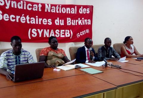 Syndicat des secrétaires du Burkina: Une grève dans  les jours à venir?