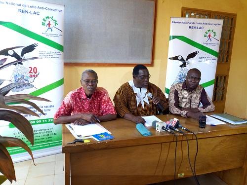 Lutte contre la corruption au Burkina: Il y a comme un aveu d'impuissance au sommet de l'Etat, selon le REN-LAC