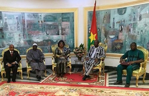 Audience à Kosyam: La présidente de la Cour de justice de l'UEMOA parle droit communautaire avec le Président du Faso