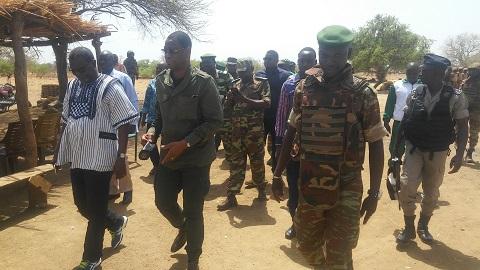 Attaque du poste forestier de Nassougou:  Le ministre Bassière, remonte le moral de la troupe
