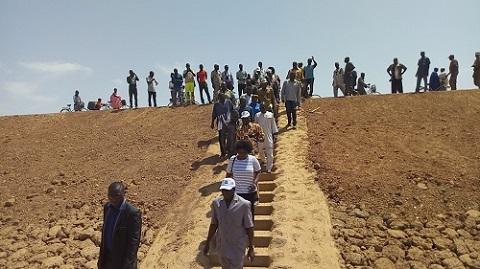 Construction du barrage de Koakin: Le ministre de l'eau satisfait des réalisations avant la fin des travaux