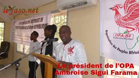 Politique: l'OPA fait son entrée dans l'arène politique burkinabè