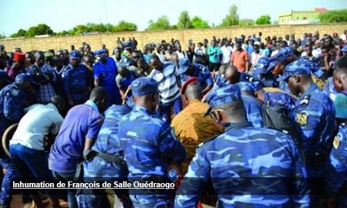 Ouagadougou: Le maréchal des logis chef François de Salle Ouédraogo conduit à sa dernière demeure