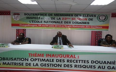 École nationale des douanes du Burkina: C'est parti pour les soutenances de mémoires de fin de cycle