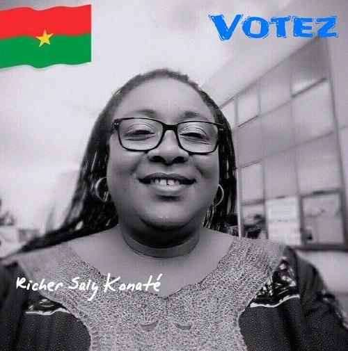 Election des délégués du Conseil Supérieur des Burkinabè de l'étranger (France): Manifeste de Richer Saly Konaté, la candidate 3D